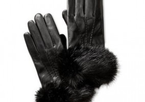 black fur cuff glove inspiration