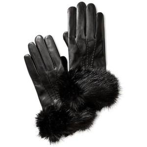 black fur cuff glove inspiration