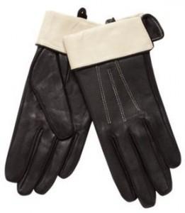 contrast cuff glove